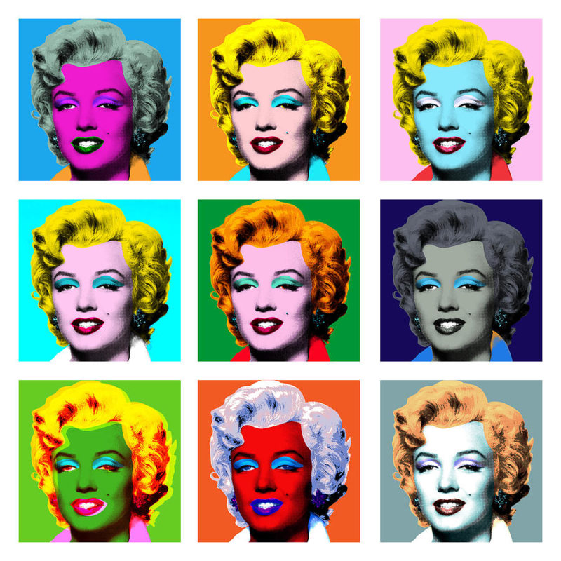 Pop art movimiento Marilyn