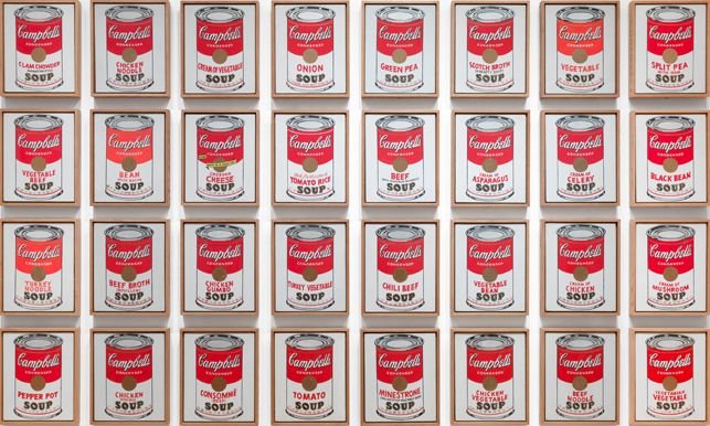 pop art movimiento Campbell's Soul Cans