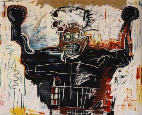 boxeador pintura
